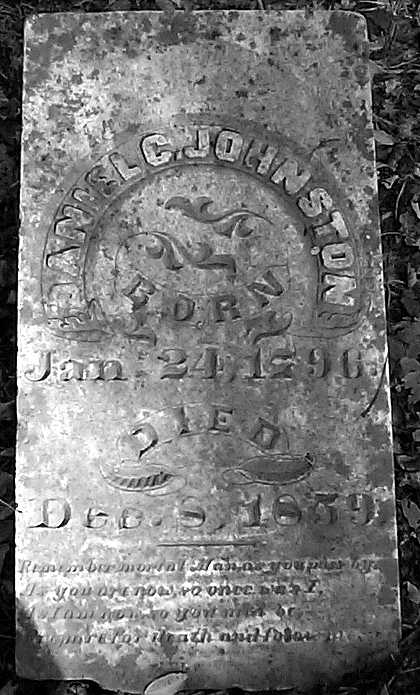Gravestone of Calvin Johnston of Bell Witch fame
